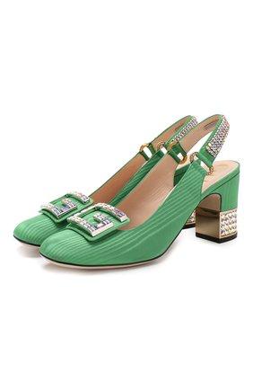 Шелковые туфли Madelyn с отделкой кристаллами | Фото №1