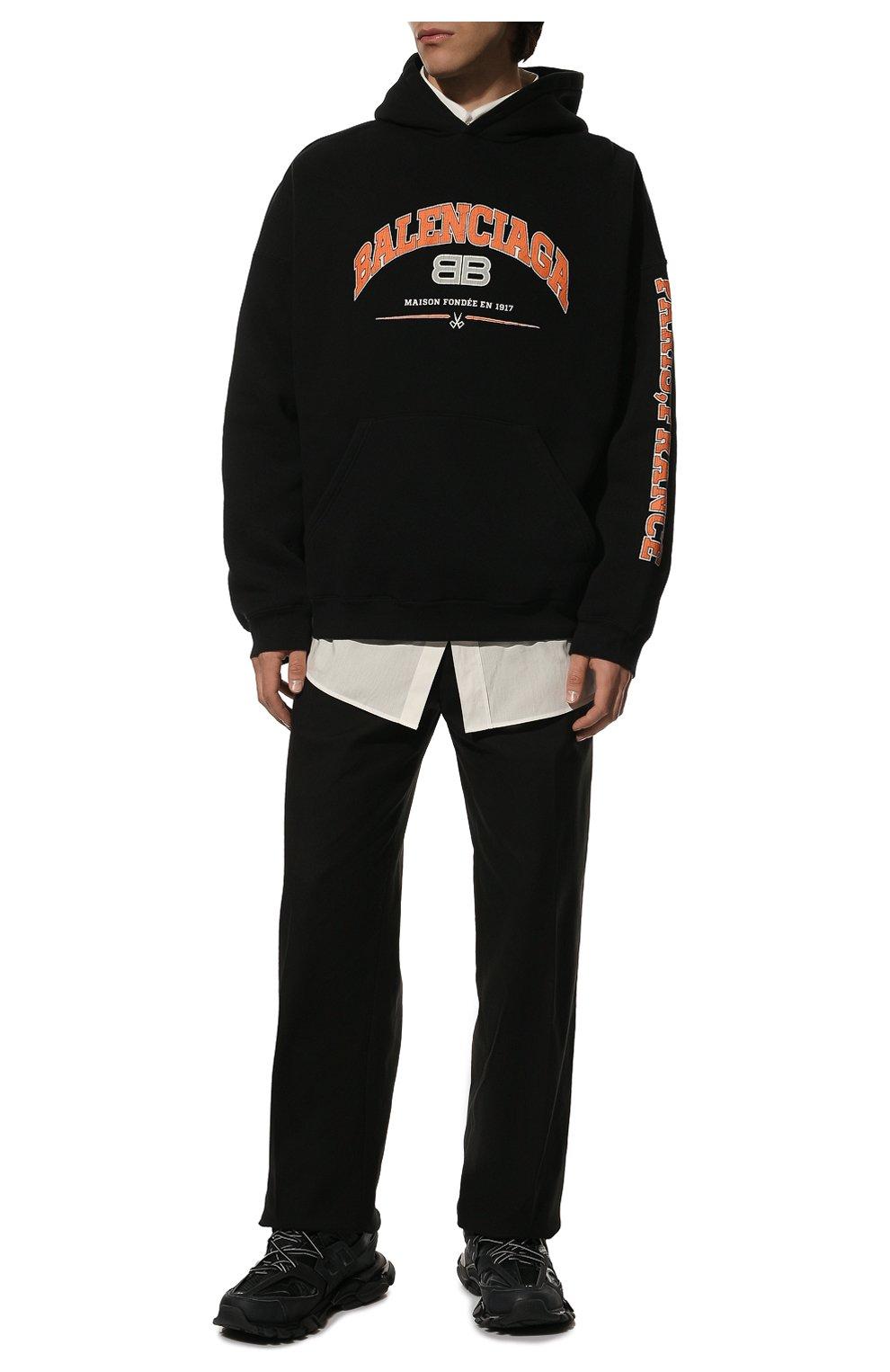 Мужские текстильные кроссовки track BALENCIAGA черного цвета, арт. 542023/W1GB1 | Фото 2 (Материал внешний: Текстиль; Стили: Гранж; Материал внутренний: Текстиль; Подошва: Массивная; Статус проверки: Проверена категория)