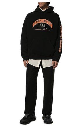 Мужские текстильные кроссовки track BALENCIAGA черного цвета, арт. 542023/W1GB1 | Фото 2 (Материал внутренний: Текстиль; Материал внешний: Текстиль; Статус проверки: Проверена категория; Стили: Гранж; Подошва: Массивная)