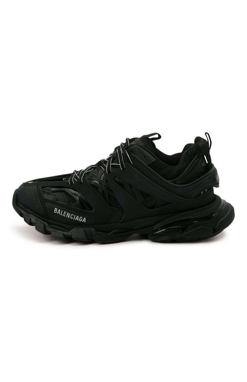 Мужские текстильные кроссовки track BALENCIAGA черного цвета, арт. 542023/W1GB1 | Фото 4 (Материал внешний: Текстиль; Стили: Гранж; Материал внутренний: Текстиль; Подошва: Массивная; Статус проверки: Проверена категория)