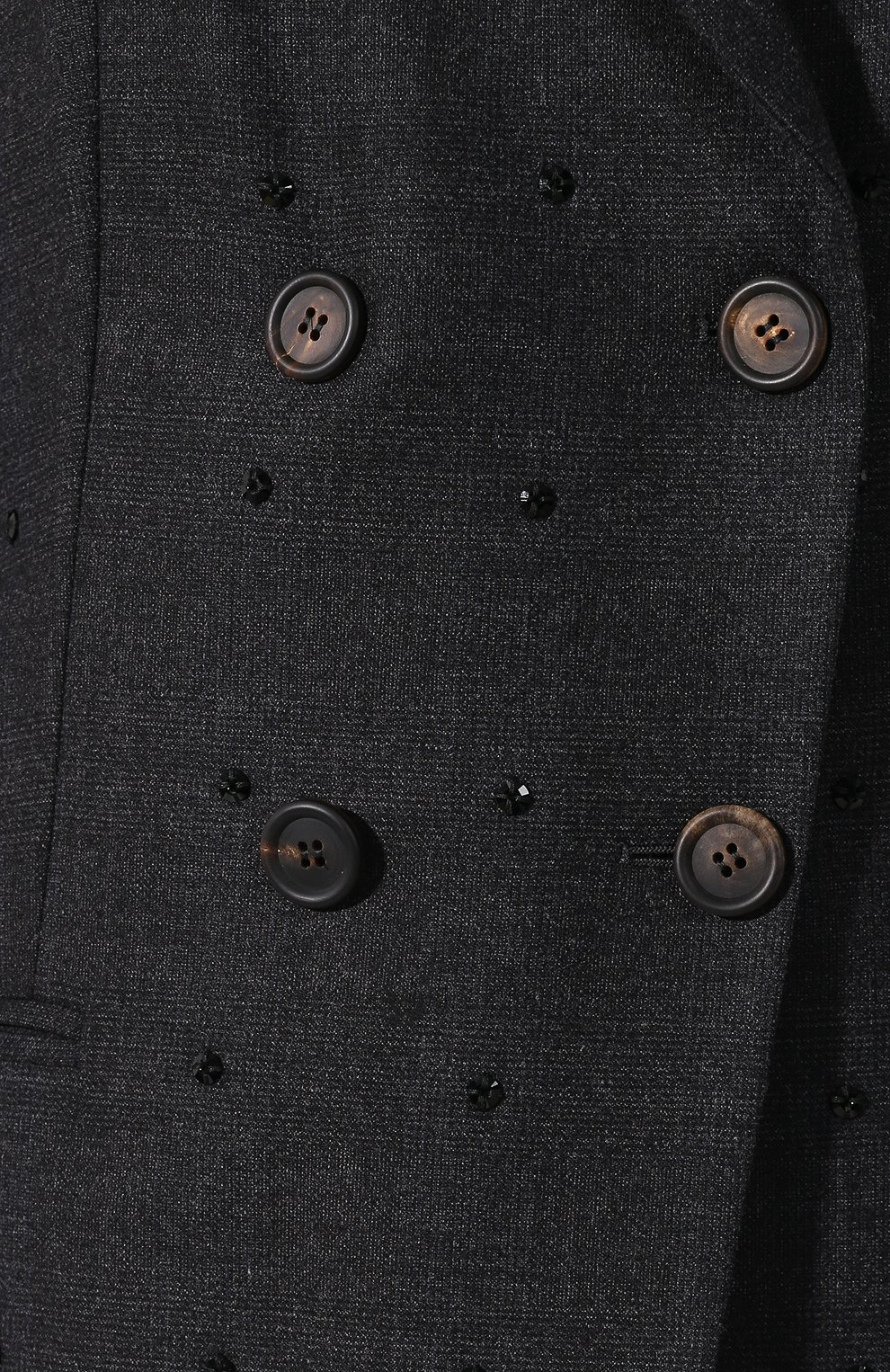 Женский шерстяной костюм с декоративной отделкой BRUNELLO CUCINELLI темно-серого цвета, арт. MA078T8416 | Фото 6