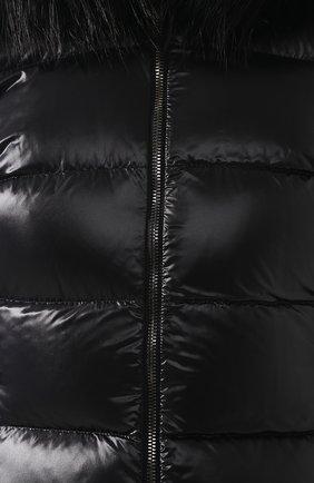 Женский стеганый пуховик с капюшоном DOLCE & GABBANA черного цвета, арт. I9314W/FUMQ4 | Фото 5