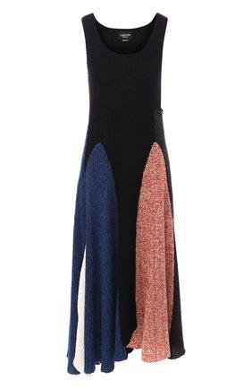 Платье-миди из смеси шерсти и хлопка