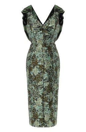 Приталенное платье с V-образным вырезом | Фото №1