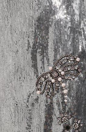 Юбка-миди с пайетками Erdem серебряная | Фото №5