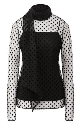Полупрозрачная блуза в горох | Фото №1