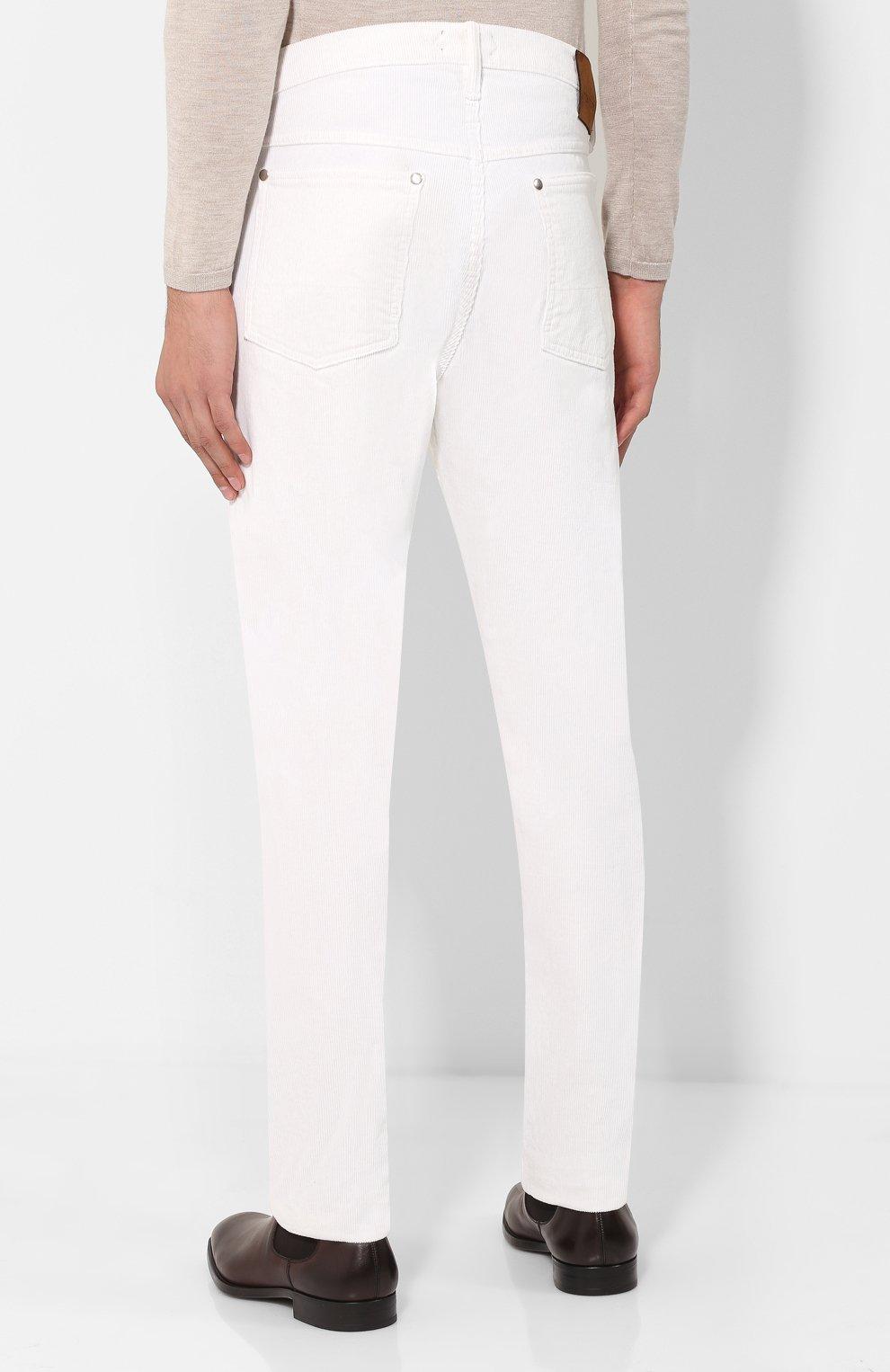 7296ee53407 Мужские белые джинсы прямого кроя TOM FORD — купить за 59950 руб. в ...
