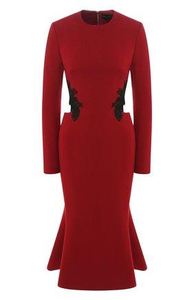 Шерстяное платье с открытой спиной   Фото №1