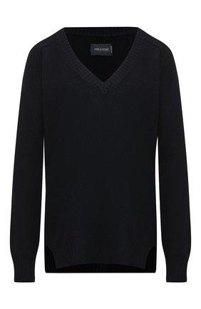 Кашемировый пуловер с V-образным вырезом | Фото №1