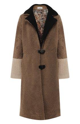 Меховое пальто с отложным воротником | Фото №1