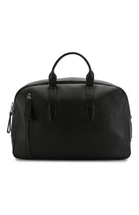 Мужская кожаная дорожная сумка TOM FORD черного цвета, арт. H0362P-G02 | Фото 1