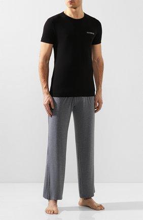 Мужские комплект из двух хлопковых футболок DIRK BIKKEMBERGS черного цвета, арт. B41308T48 | Фото 2