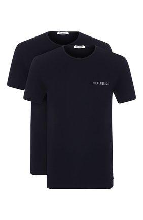 Мужская комплект из двух хлопковых футболок DIRK BIKKEMBERGS темно-синего цвета, арт. B41308T48 | Фото 1