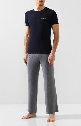 Мужская комплект из двух хлопковых футболок DIRK BIKKEMBERGS темно-синего цвета, арт. B41308T48 | Фото 2