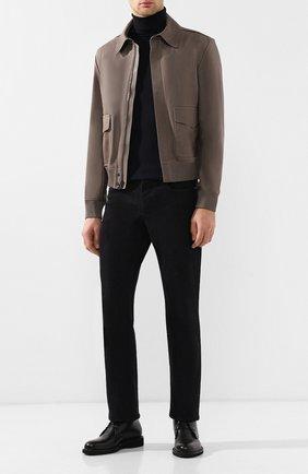 Мужская кожаная куртка на молнии с отложным воротником RALPH LAUREN светло-коричневого цвета, арт. 790716581 | Фото 2