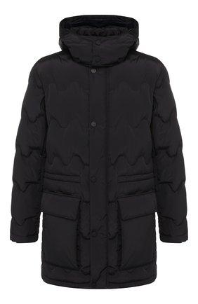 Мужская пуховая куртка на молнии с капюшоном Z ZEGNA темно-синего цвета, арт. VR020/ZZ150 | Фото 1