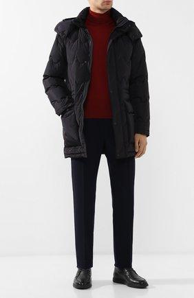 Мужская пуховая куртка на молнии с капюшоном Z ZEGNA темно-синего цвета, арт. VR020/ZZ150 | Фото 2