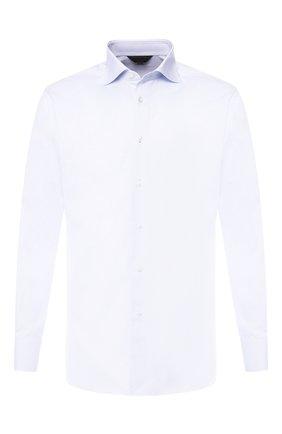 Мужская хлопковая сорочка с воротником кент ZEGNA COUTURE светло-голубого цвета, арт. 402028/9NS0RI | Фото 1
