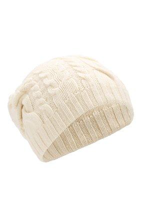 Мужская шапка из смеси шерсти и вискозы INVERNI белого цвета, арт. 3807CM | Фото 1