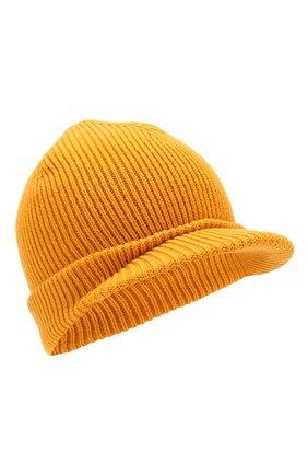Мужская шерстяная шапка с козырьком INVERNI желтого цвета, арт. 4224CM | Фото 1
