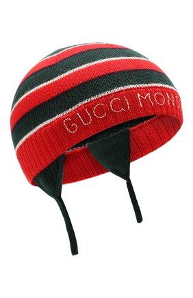 Детского шерстяная шапка GUCCI красного цвета, арт. 522791/3K206 | Фото 1