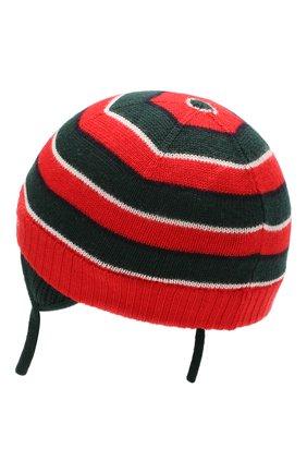 Детского шерстяная шапка GUCCI красного цвета, арт. 522791/3K206 | Фото 2