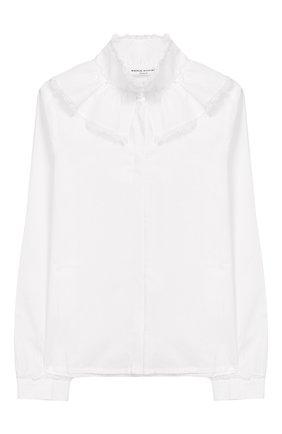 Хлопковая блуза с воротником-стойкой | Фото №1