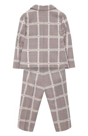 Детский шерстяной костюм из пиджака и брюк GUCCI разноцветного цвета, арт. 535578/XBA46   Фото 2