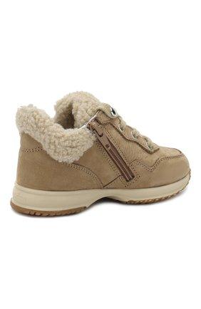 Замшевые кроссовки с меховой отделкой   Фото №3