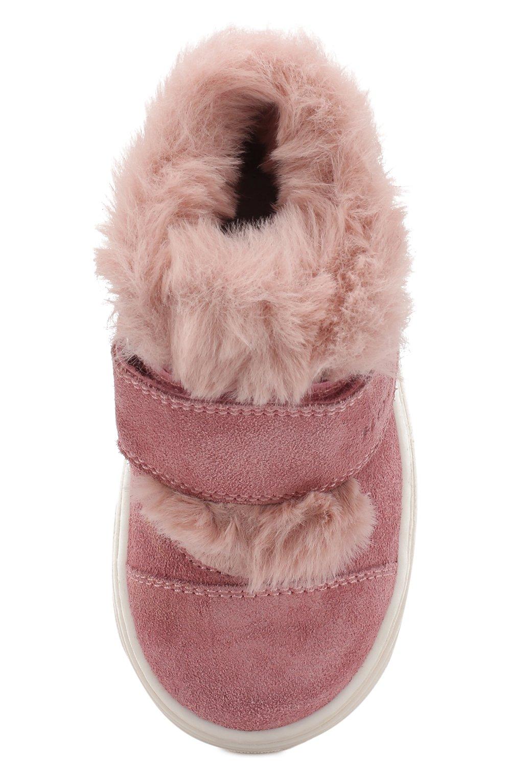 Замшевые ботинки с внутренней меховой отделкой | Фото №4