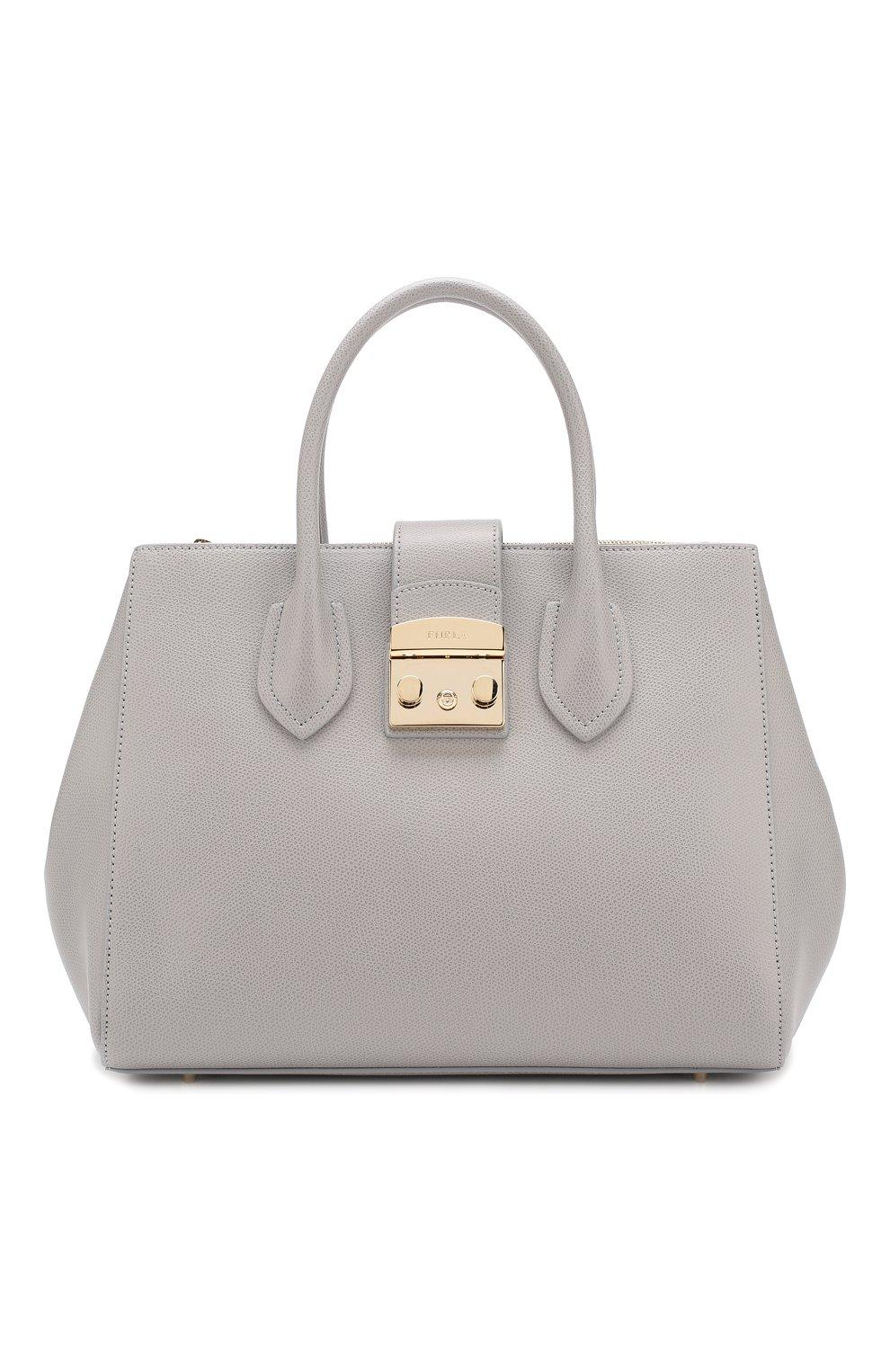 350394346a57 Женская сумка-тоут metropolis FURLA серая цвета — купить за 27500 ...