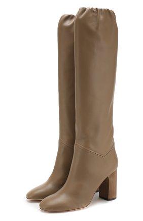 Женские кожаные сапоги tilda  LORO PIANA коричневого цвета, арт. FAI3424 | Фото 1