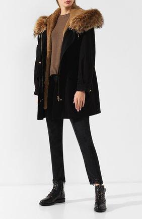 Женские кожаные ботинки с внутренней отделкой из овчины TOD'S черного цвета, арт. XXW0ZP0T634G0C | Фото 2