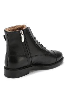 Кожаные ботинки с внутренней отделкой из овчины   Фото №4