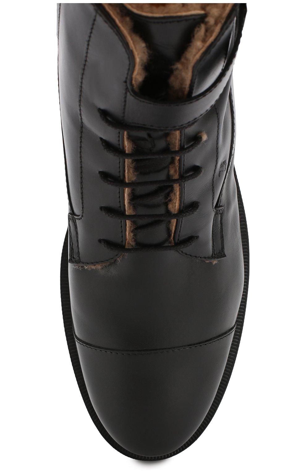 Кожаные ботинки с внутренней отделкой из овчины   Фото №5