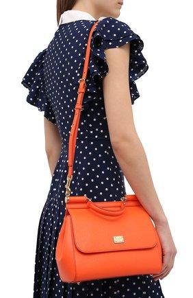 Женская сумка sicily medium DOLCE & GABBANA оранжевого цвета, арт. 0116/BB6002/A1001 | Фото 2 (Материал: Натуральная кожа; Ремень/цепочка: На ремешке; Статус проверки: Проверено, Проверена категория; Сумки-технические: Сумки top-handle; Размер: medium)