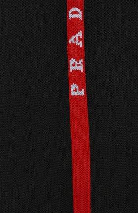 Мужские носки prada linea rossa PRADA черного цвета, арт. UCL379-1R9A-F0002   Фото 2