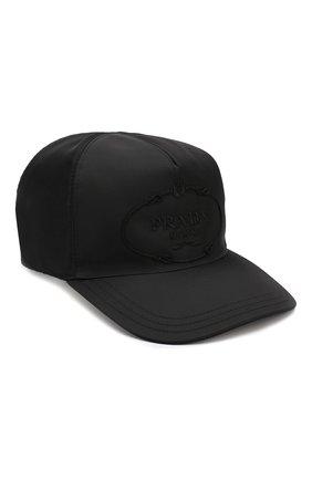 Мужской бейсболка PRADA черного цвета, арт. 2HC587-820-F0002 | Фото 1