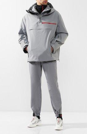 Мужская анорак prada linea rossa PRADA серого цвета, арт. SGN919-1SX6-F0024 | Фото 2