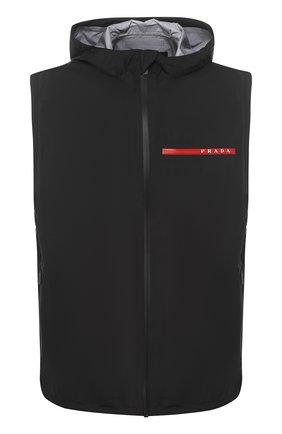 Мужской жилет prada linea rossa PRADA черного цвета, арт. SGN995-1SYD-F0002   Фото 1