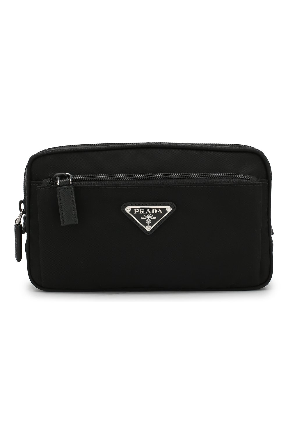 87f7a8d64f1c Мужская черная текстильная поясная сумка PRADA — купить за 42500 руб ...