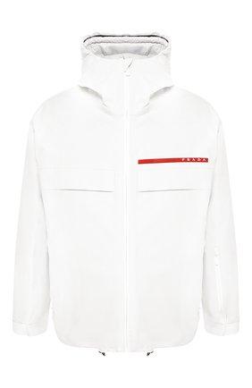 Мужская куртка на молнии prada linea rossa PRADA белого цвета, арт. SGN921-1SX6-F0K74 | Фото 1