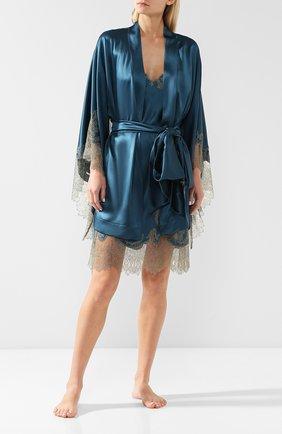 Шелковый халат с поясом | Фото №2