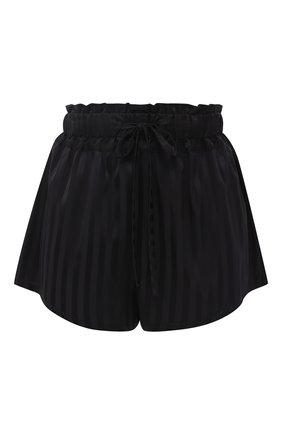 Шелковые шорты с поясом на кулиске | Фото №1