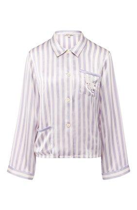 Шелковая блуза в полоску | Фото №1