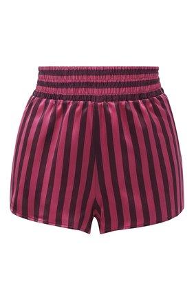 Шелковые шорты с эластичным поясом | Фото №1