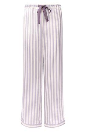 Домашние шелковые брюки в полоску | Фото №1