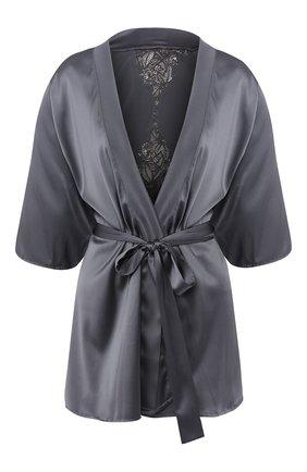 Шелковый халат с поясом | Фото №1