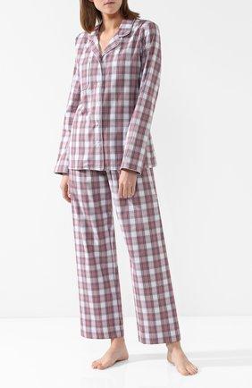 Хлопковая пижама в клетку | Фото №1