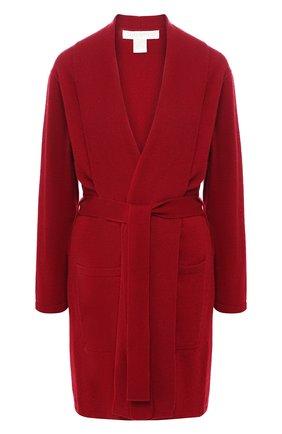 Женский кашемировый халат с поясом ARLOTTA бордового цвета, арт. 2012 | Фото 1